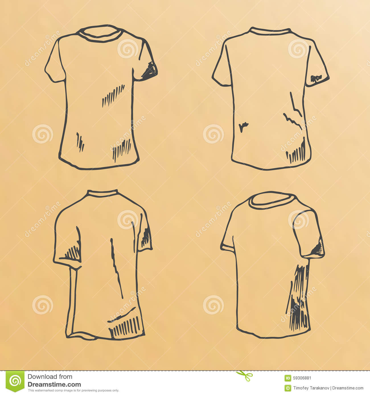 Illustration T Shirt Designs Vector Set