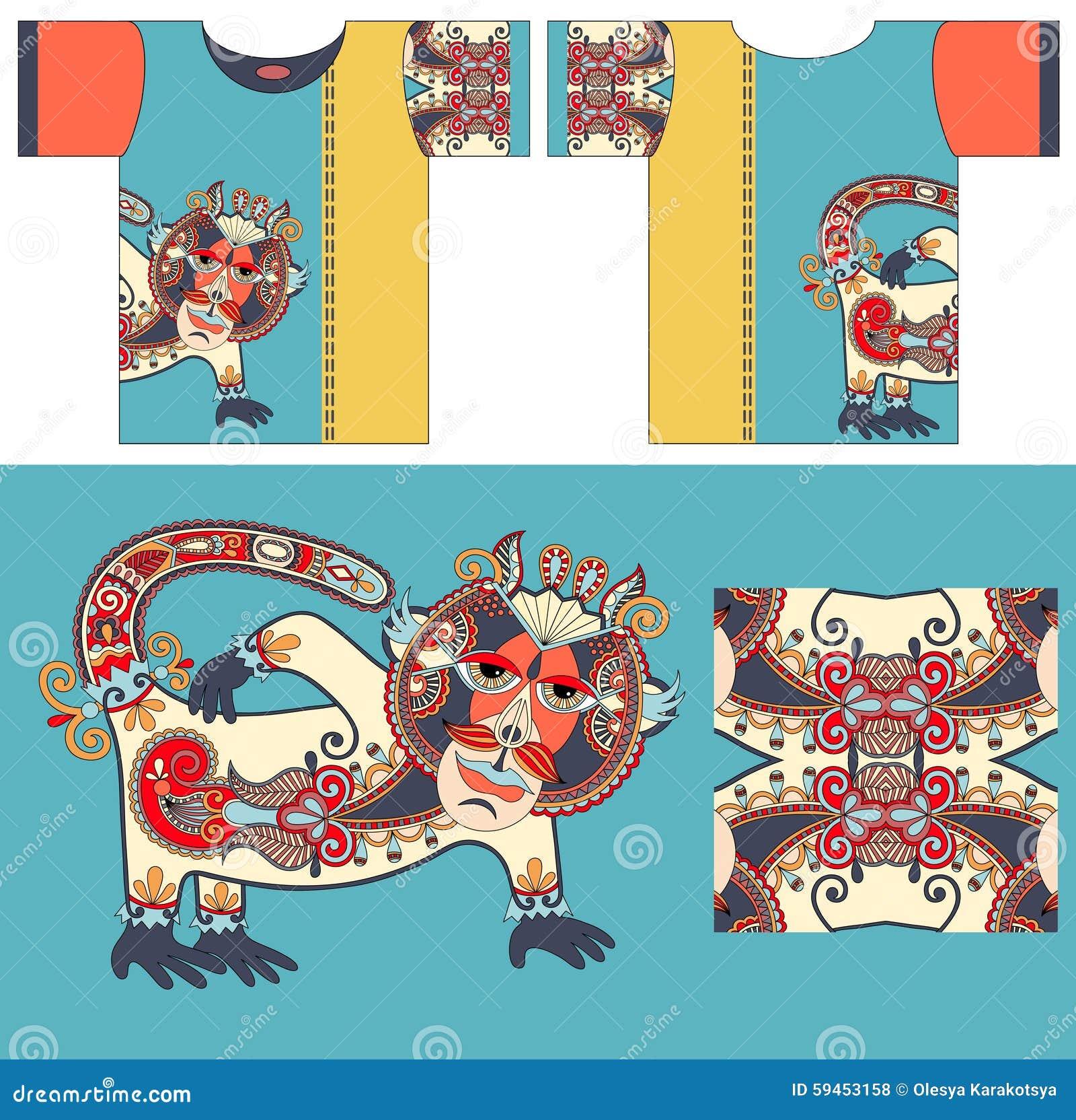Shirt design unique - T Shirt Design With Unique Decorative Fantasy