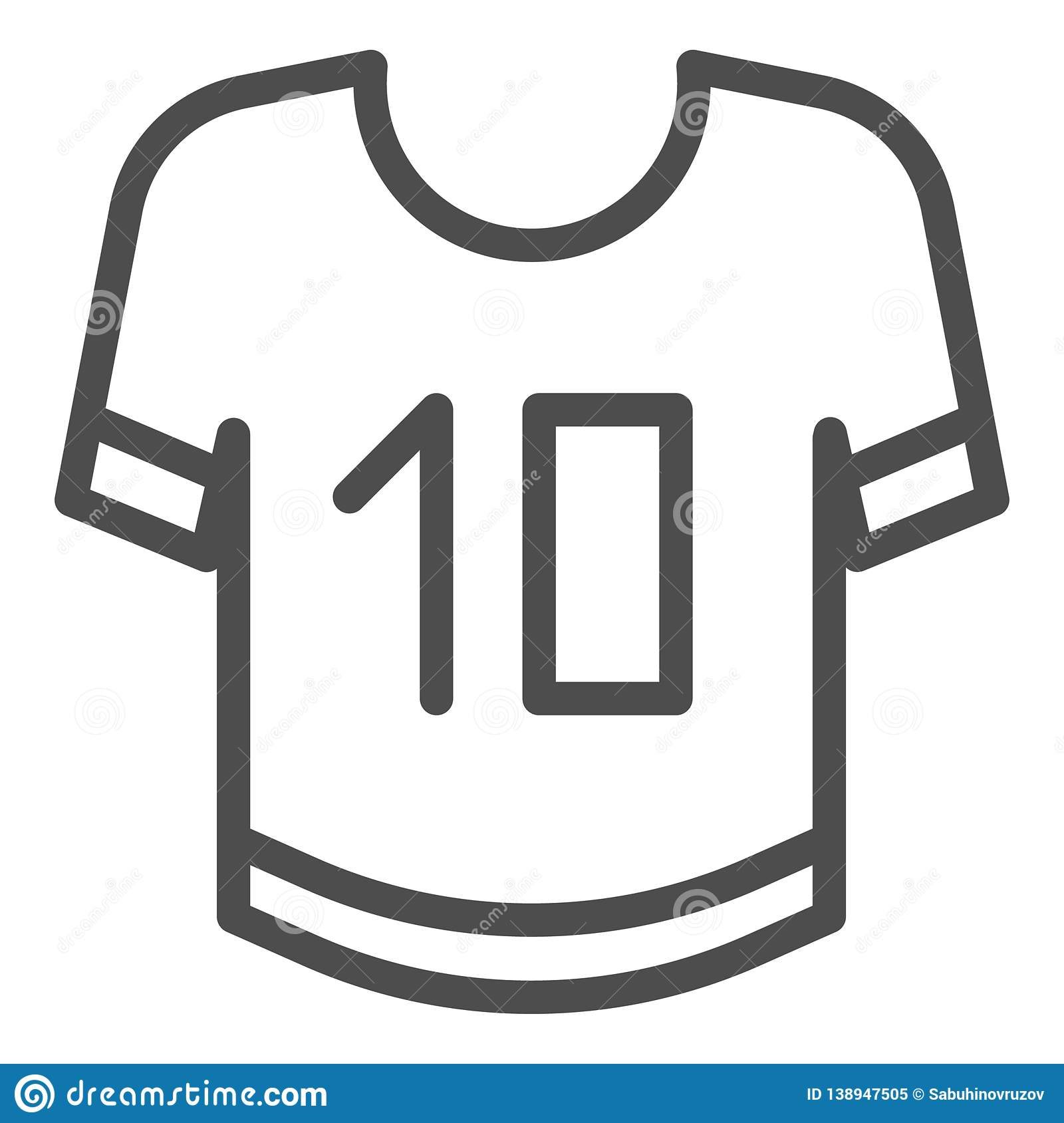 T Shirt Line Icon Clothing Vector Illustration Isolated On White Sport Clothes Outline Style Design Designed For Web Stock Vector Illustration Of Sign Image 138947505