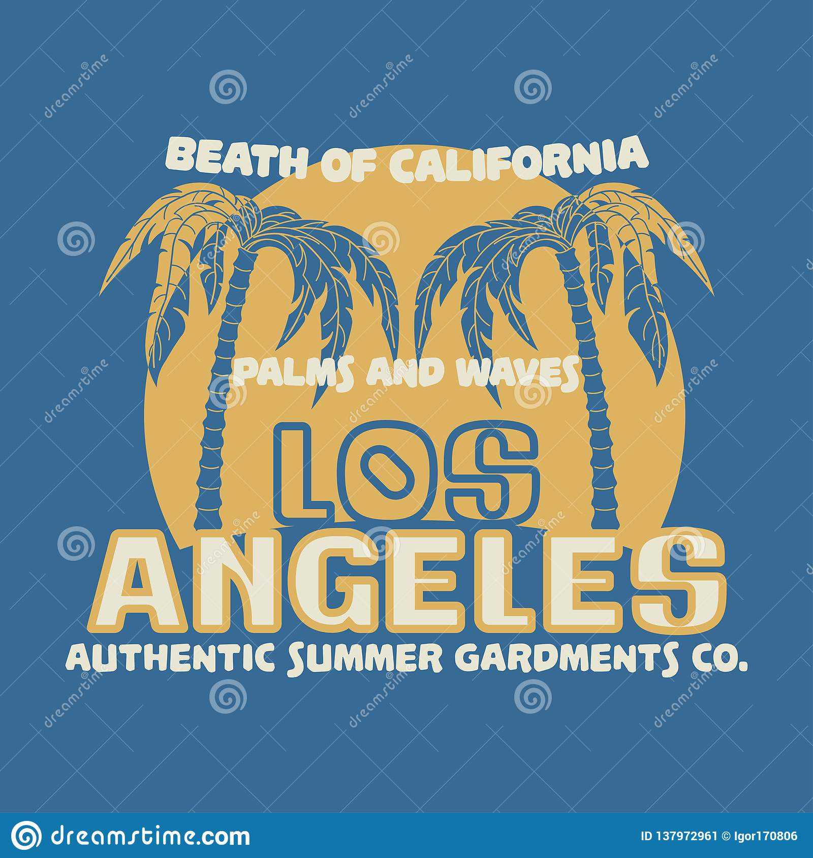 T-shirt Los Angeles California , Sport Wear, Sport