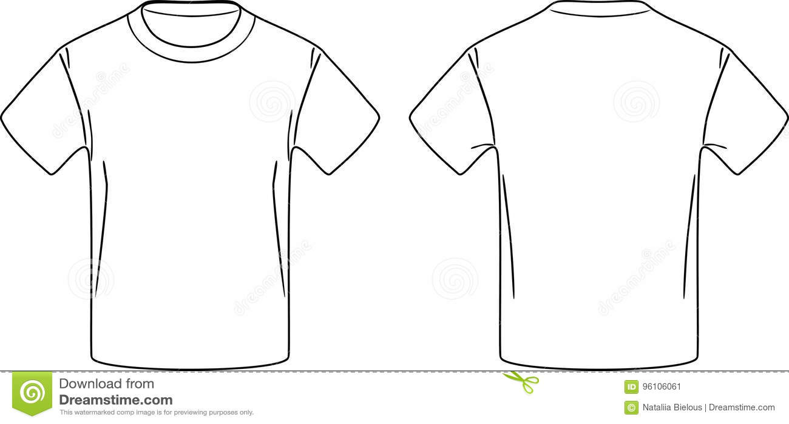 36d3ac9c0 T-shirt Masculino Branco Desenho Dianteiro E Traseiro Do Contorno ...