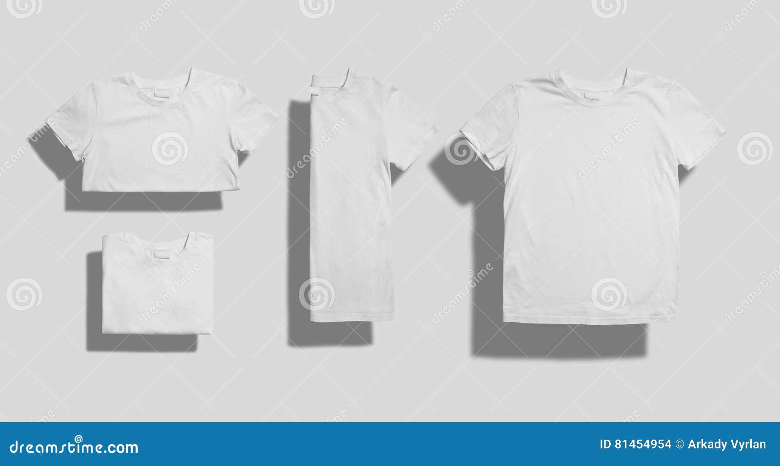 T Shirt Mockup Set Stock Photo Image Of Fashion Shirt 81454954