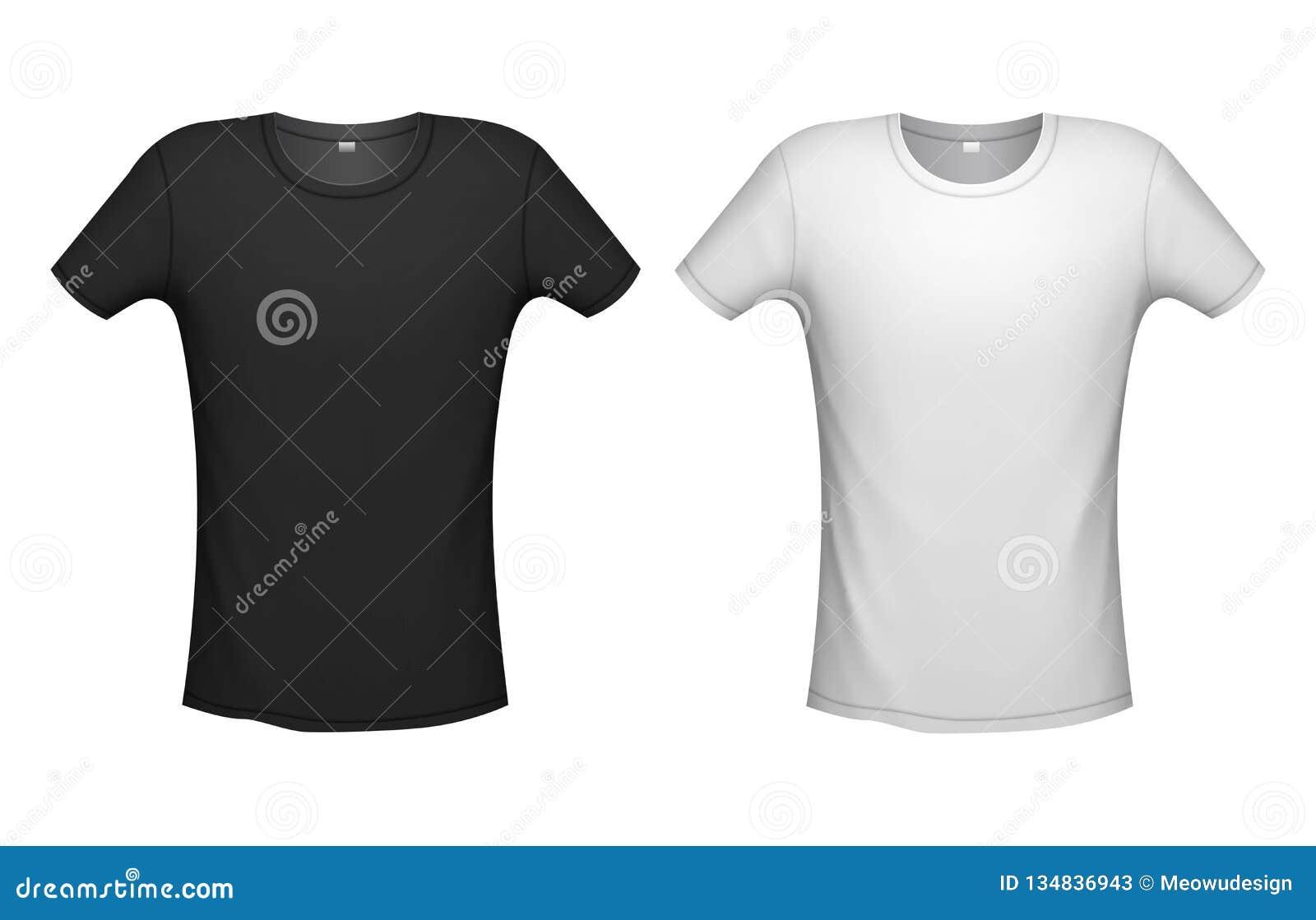 T Shirt Mockup Vector Illustration Stock Vector Illustration Of