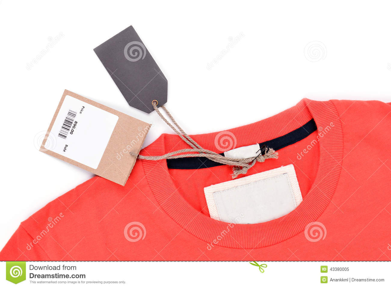 T Shirt With Price Tag Stock Photo - Image: 43380005