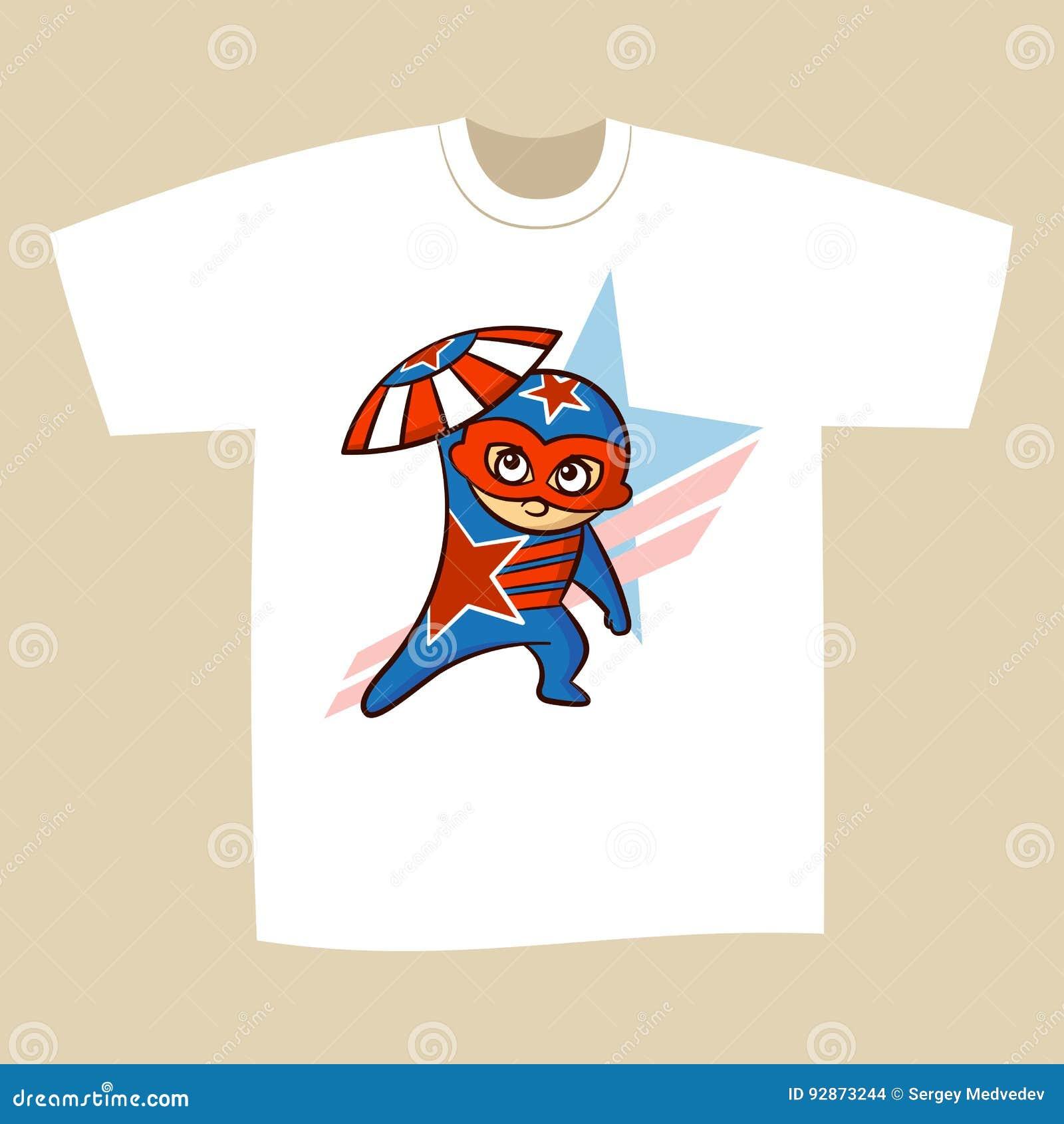 61c602a3 T-shirt Print Design Superhero Stock Illustration - Illustration of ...