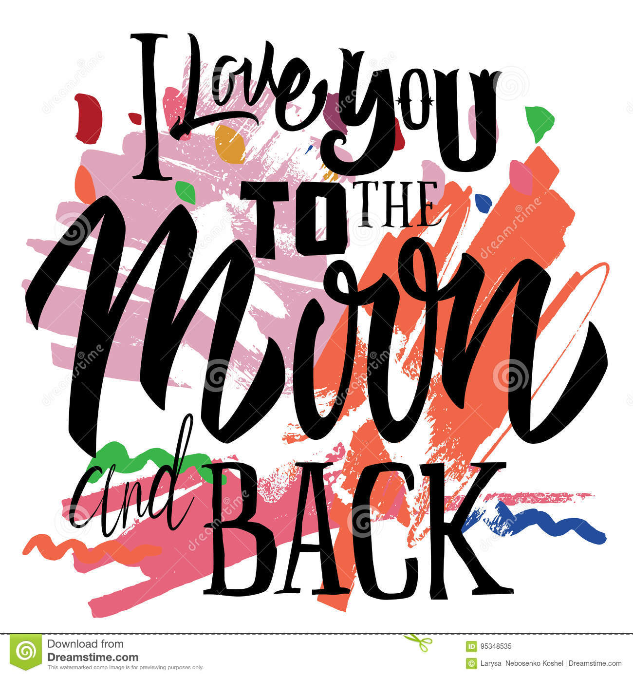 t shirt printing logo template i love you to the moon and back