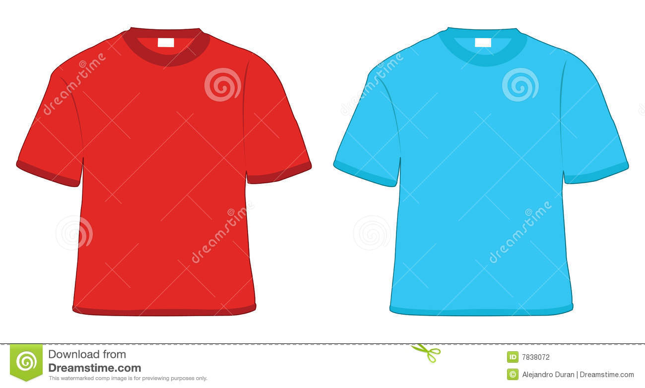T shirt red and blue stock photography image 7838072 for Red and blue t shirt