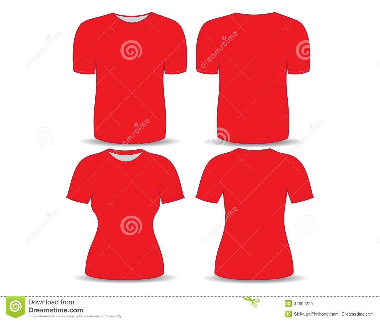 Zazzle t shirt design template - Red T Shirt Template Stock Vector Image 46751049