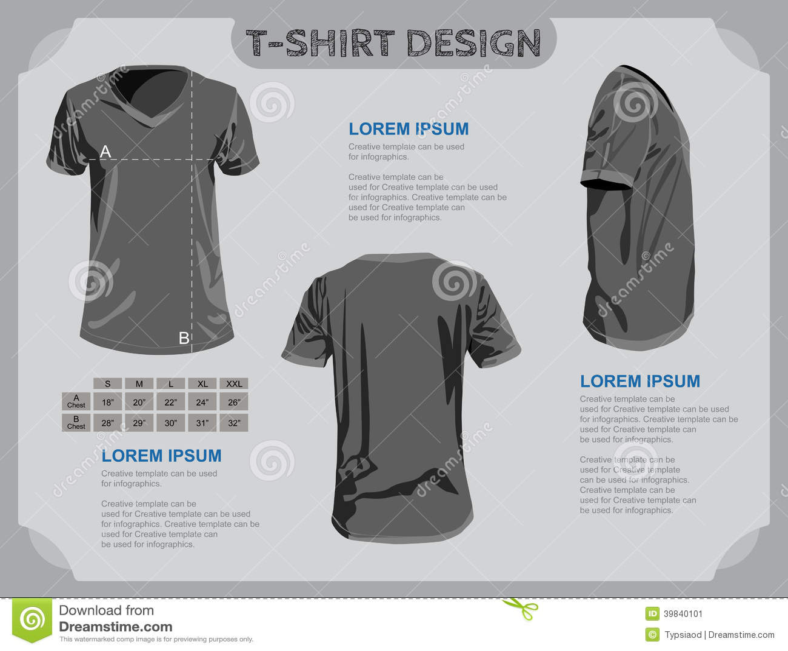 T-Shirt Schablone.
