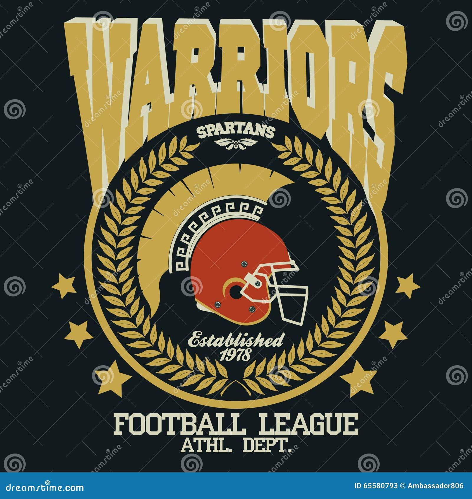 T-shirt Spartan Warrior do futebol