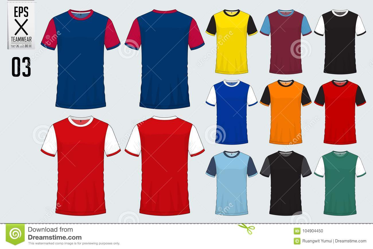 T Shirt Sport Design Template For Soccer Jersey Football Kit And