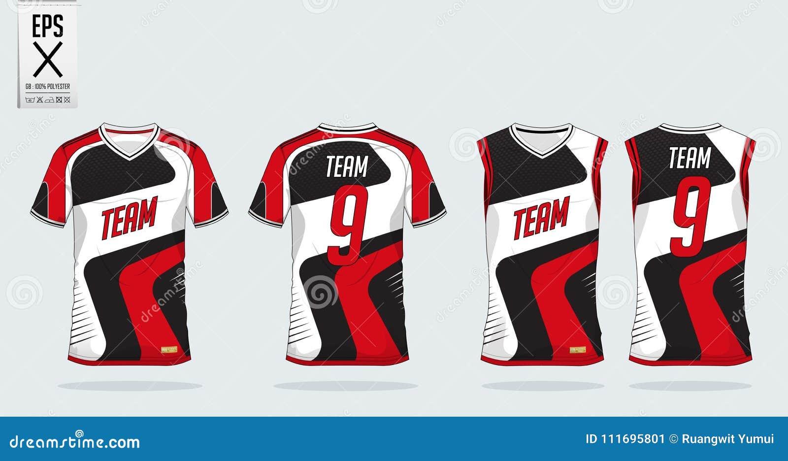 T-Shirt Sport-Designschablone Für Fußballtrikot, Fußballausrüstung ...