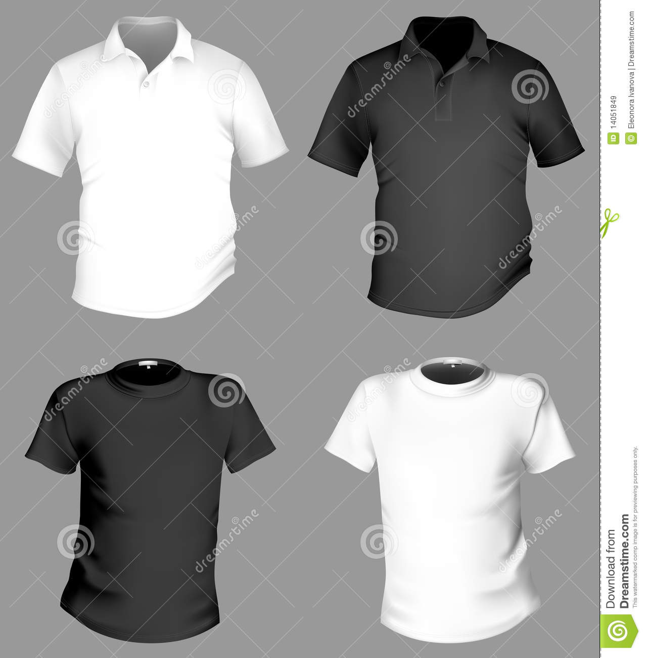 Front, Back And Side Views Of Polo-Shirt. Vector Illustration 43384304 -  Megapixl