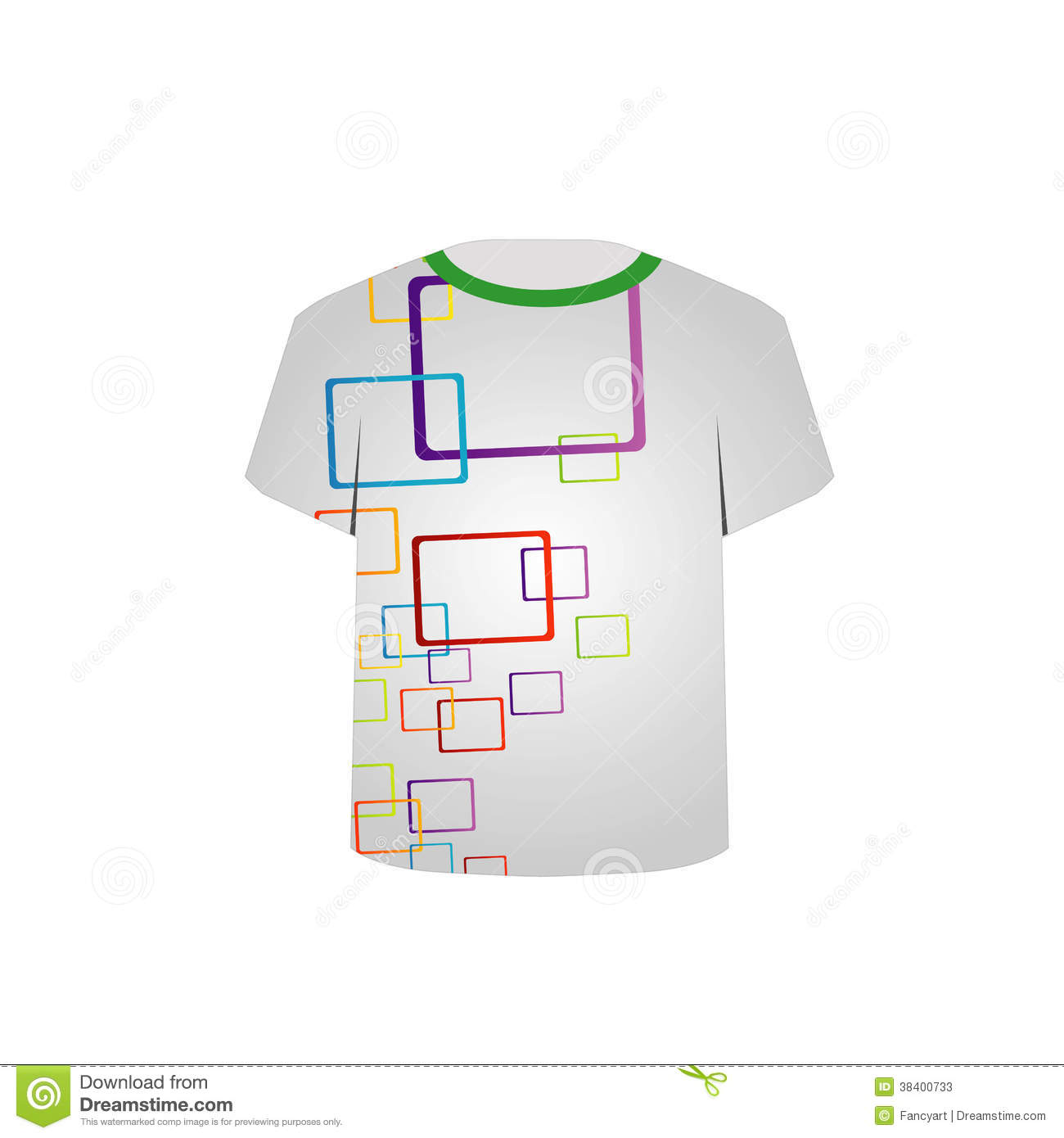 Shirt Template With Pattern And T Shirt Outline