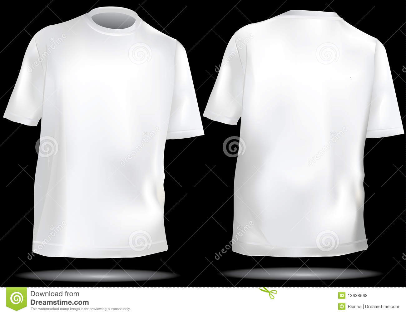 White t shirt front and back template - Back Front Shirt T Template Tshirt White