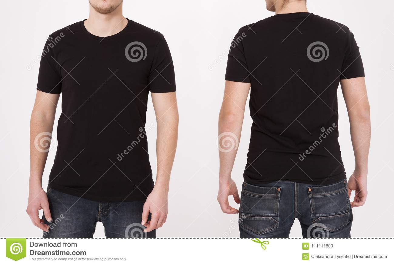 T shirt template black front and back view mock up isolated on download t shirt template black front and back view mock up isolated on maxwellsz