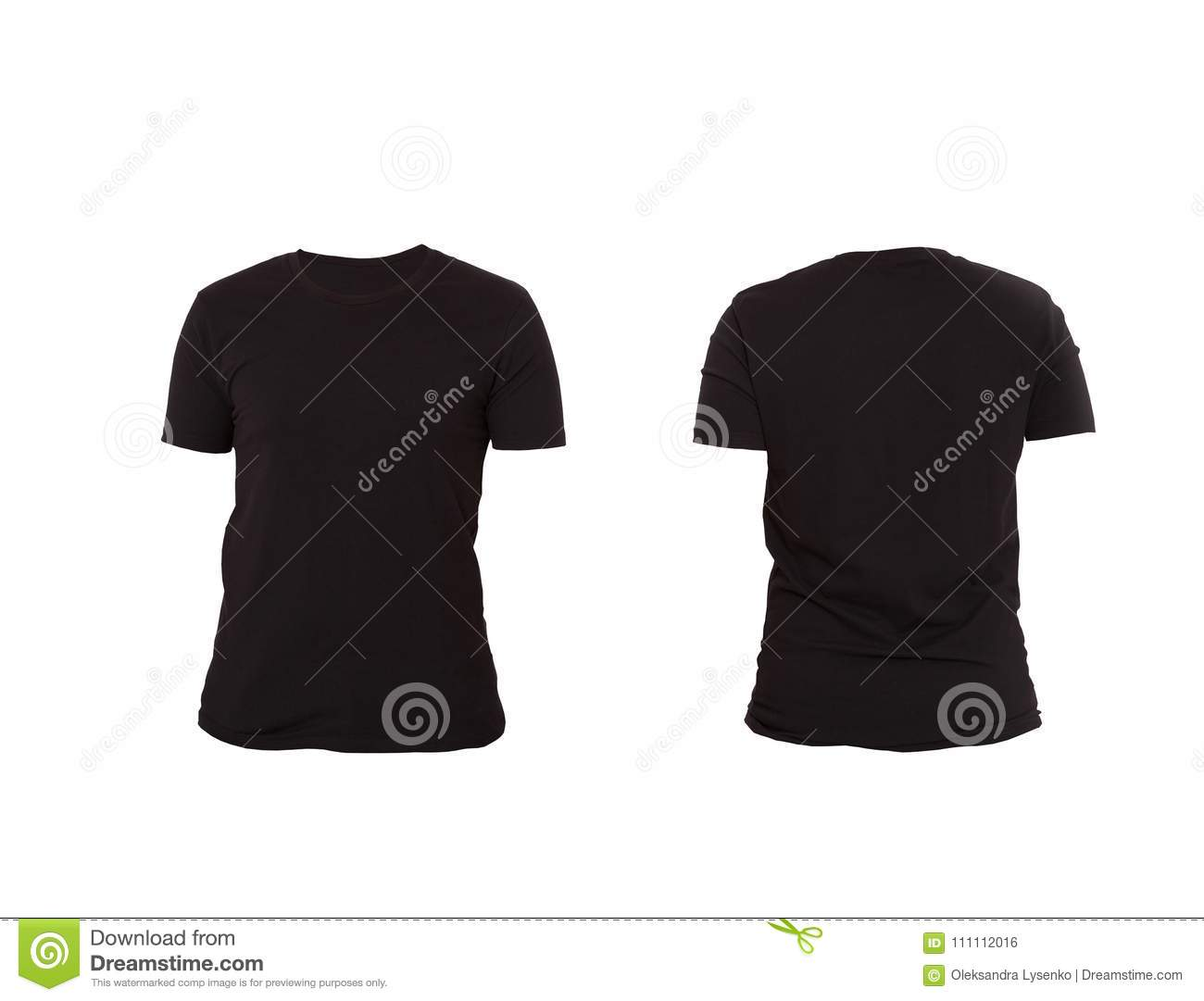 94 front and back black t shirt template womens blank