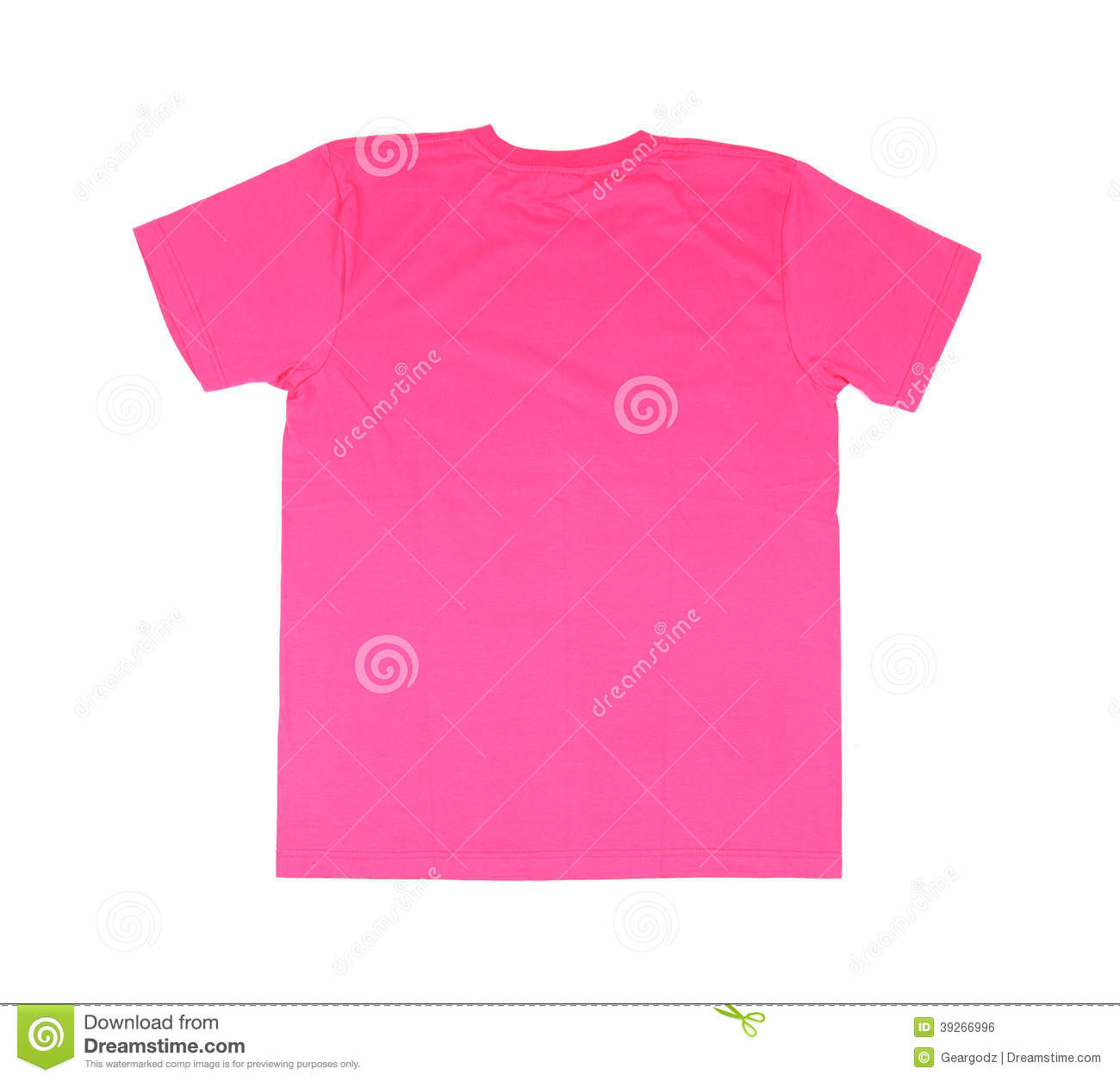 T shirt template stock photo image 39266996 for Pink t shirt template