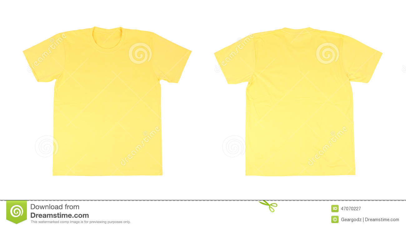 White t shirt front and back template - T Shirt Template Set Front Back Royalty Free Stock Photography