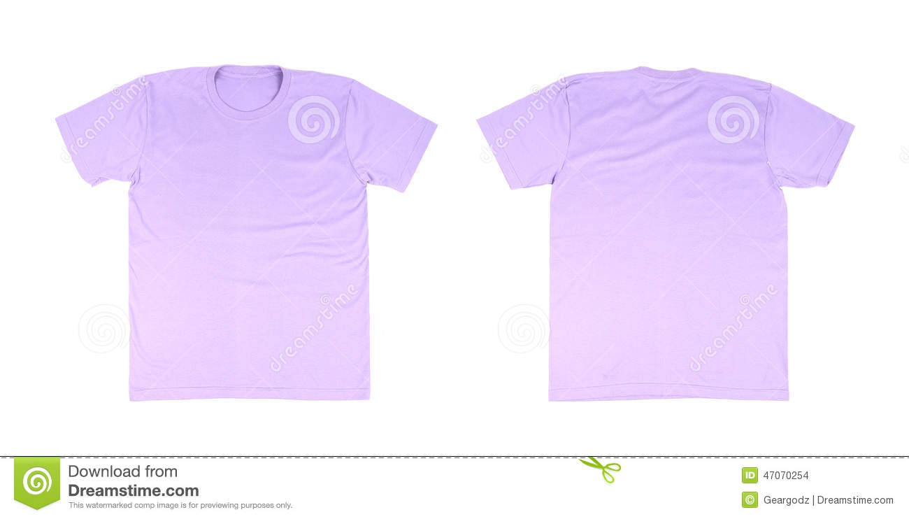 T shirt template set front back stock photo image for Back t shirt template