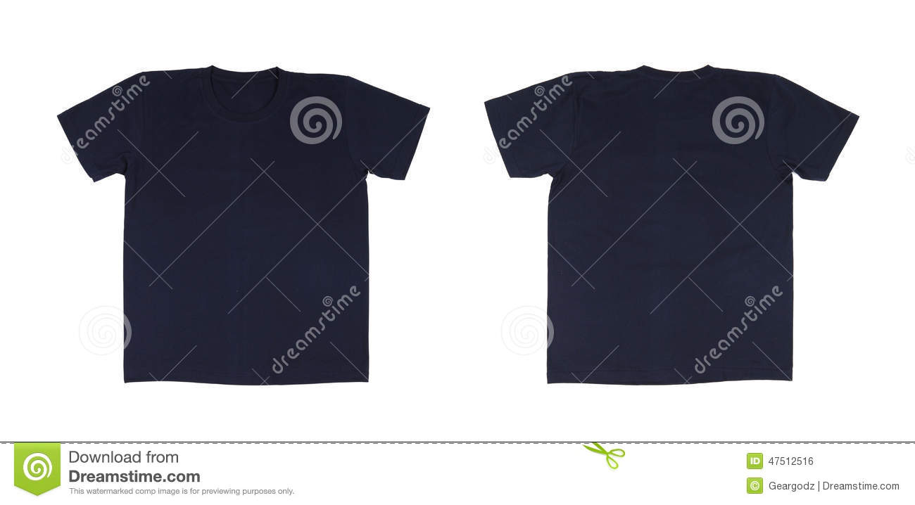 Blank black t shirt front and back - T Shirt Template Set Front Back Royalty Free Stock Image