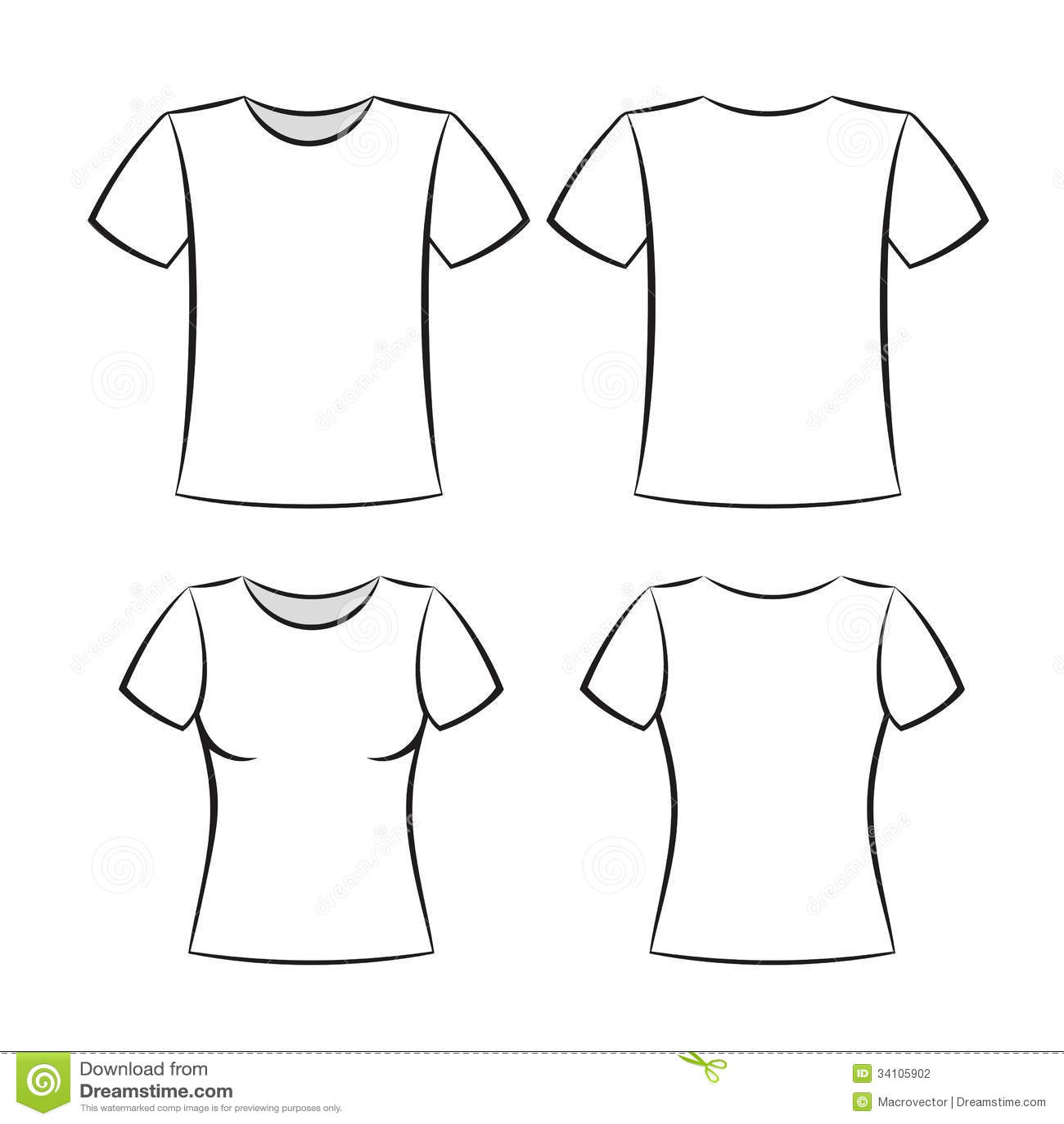 shirt Template Stock Photography - Image: 34105902