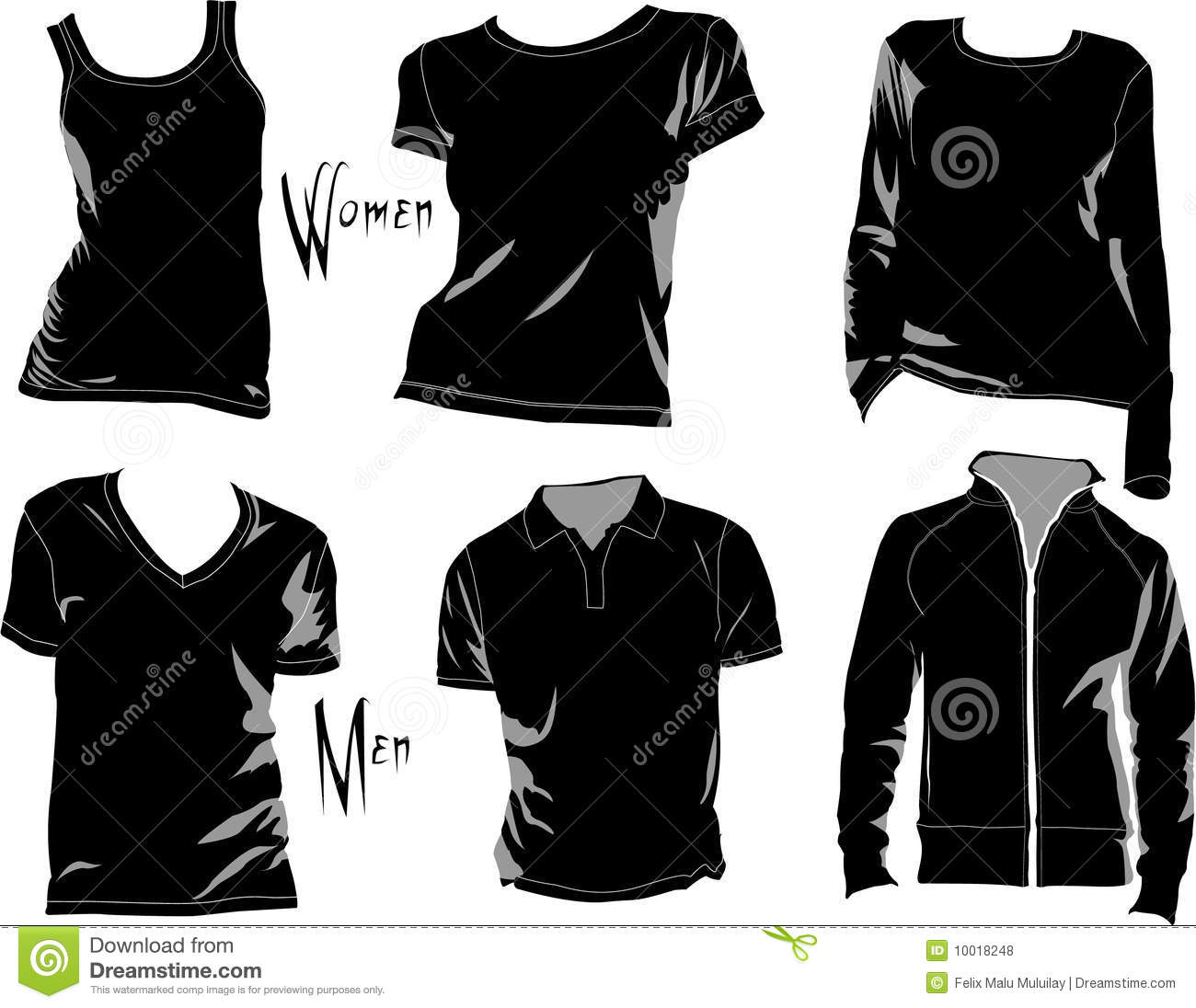 Black t shirt vector free - T Shirt Templates Stock Image Image 9809841