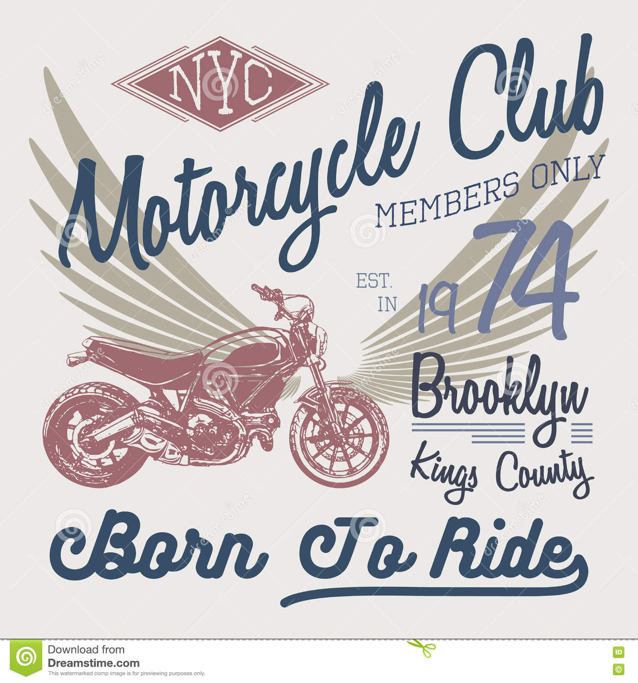 All graphics newest royalty free stock photos stock illustrations - T Shirt Typography Design Motorcycle Vector Nyc Printing Graphics Typographic Vector Illustration