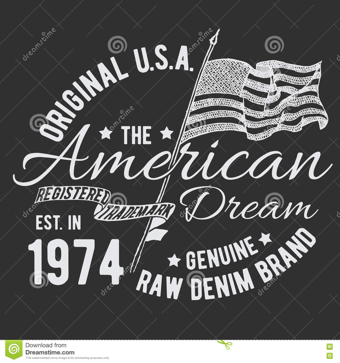 Usa T Shirt Design Vector Illustration