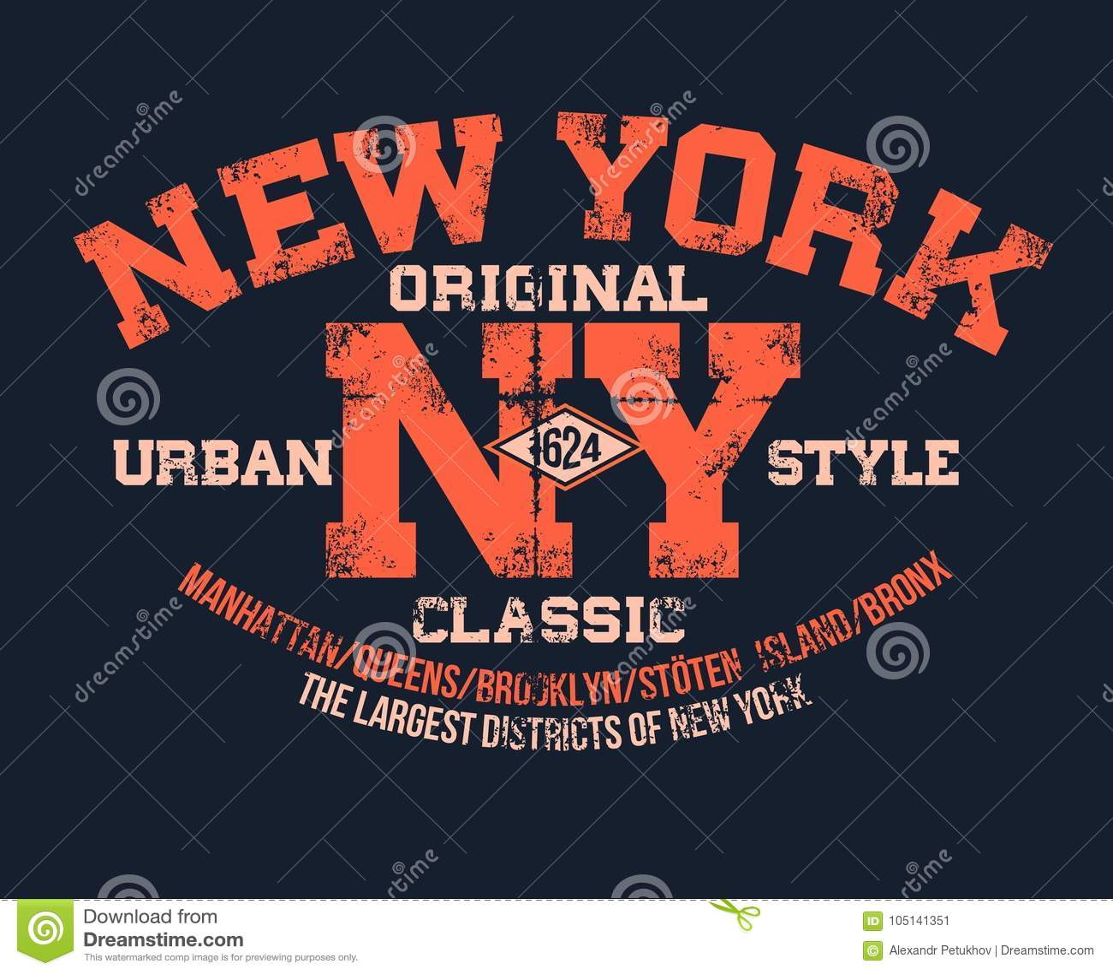a576a88e6 T-shirt typography print New York urban theme serigraphy stencil cool  design classic vintage