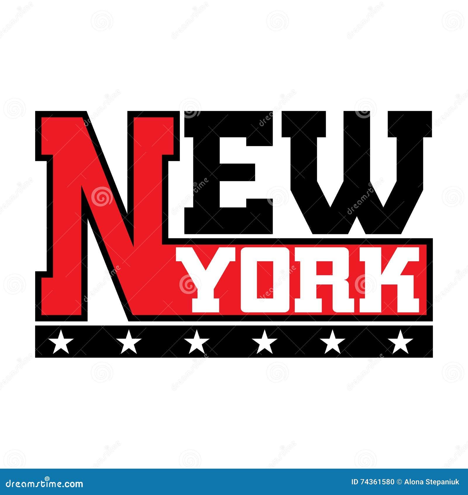 t shirt typography stars new york city stock vector image 74361580