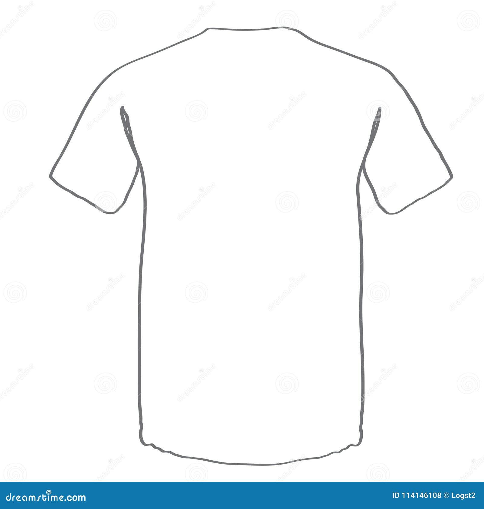 t shirt vector template t shirt mock up stock vector illustration