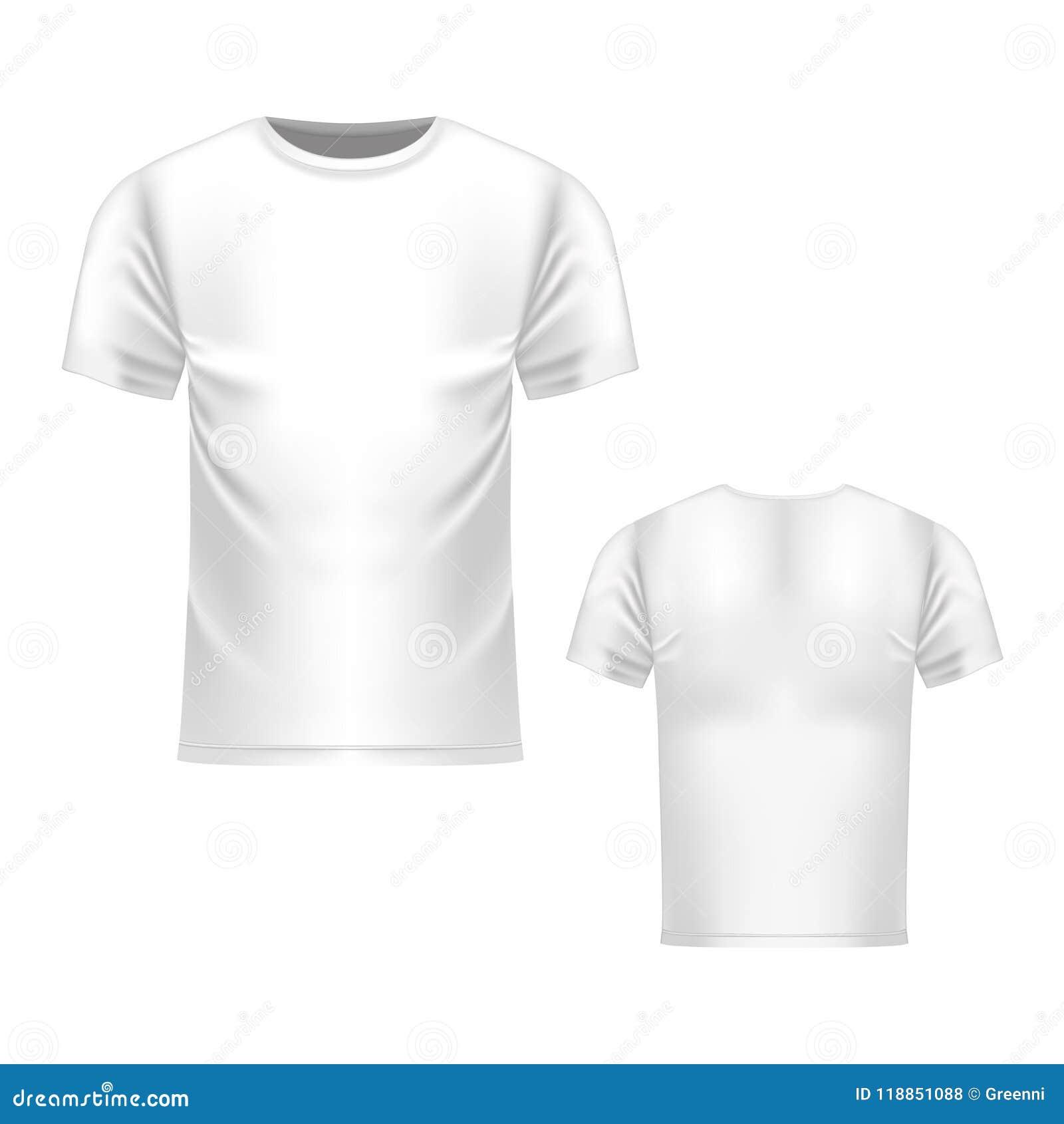 T Shirt White Template