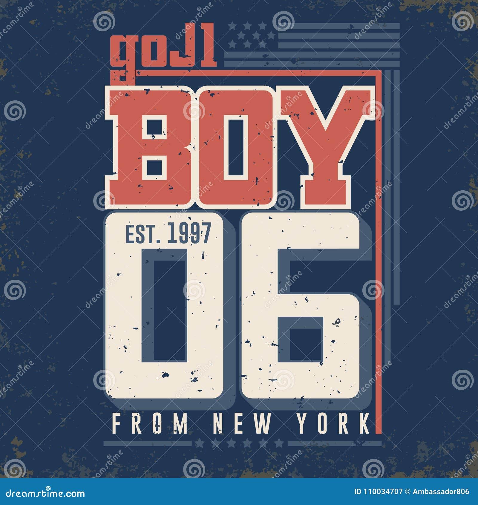 T-shirtgrafiek - Jongen van de Stad van New York Vector
