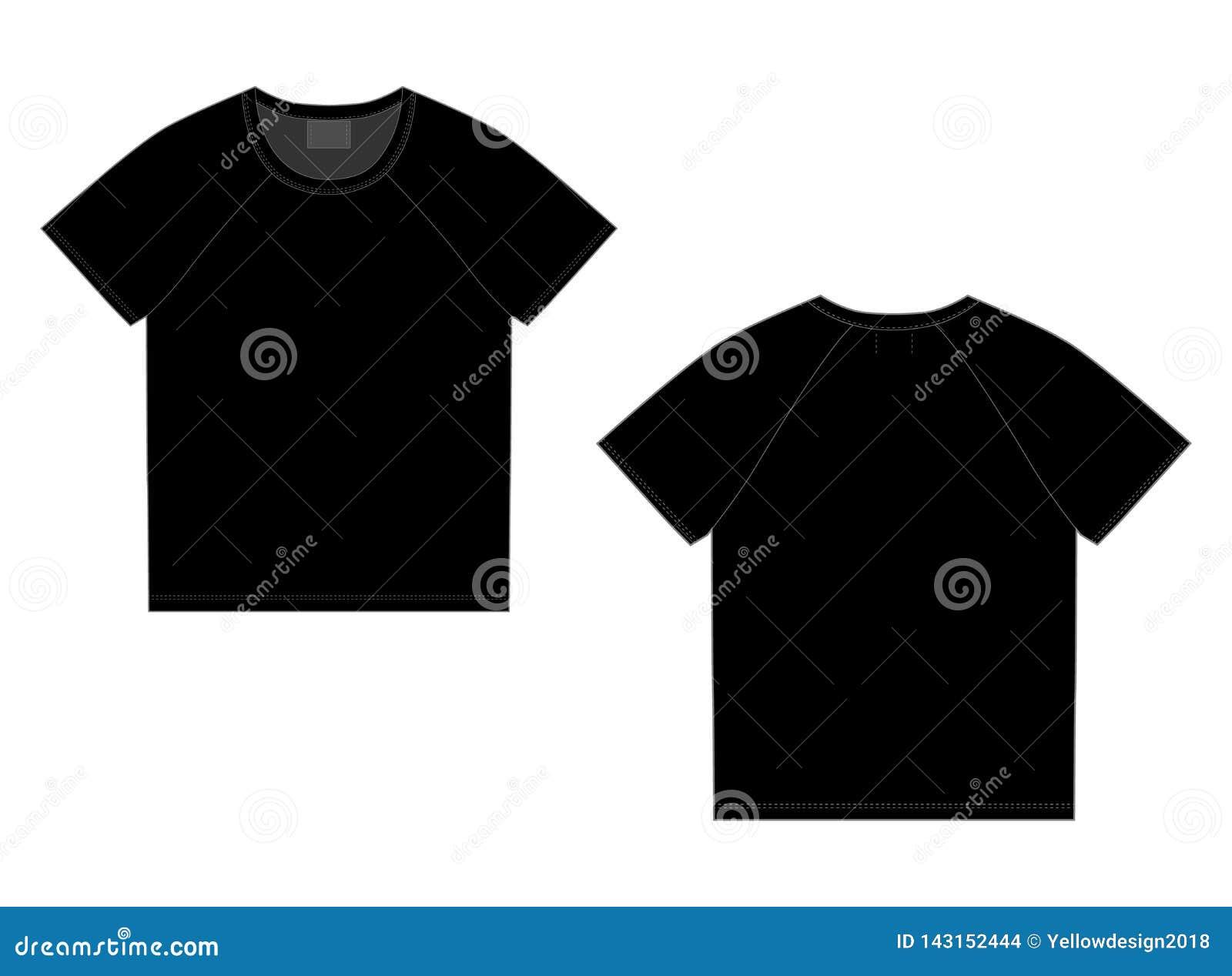 T-shirtraglan ontwerpsjabloon Voorzijde en Rug