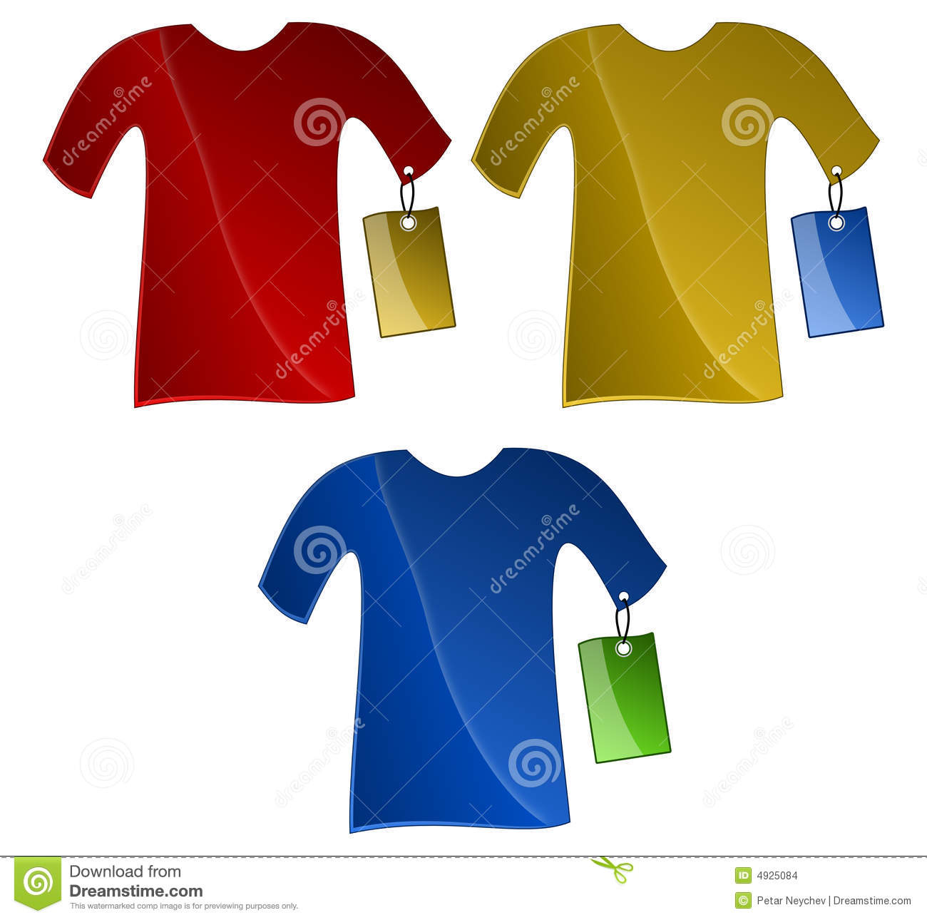 T-Shirts With Price Tags Stock Images - Image: 4925084