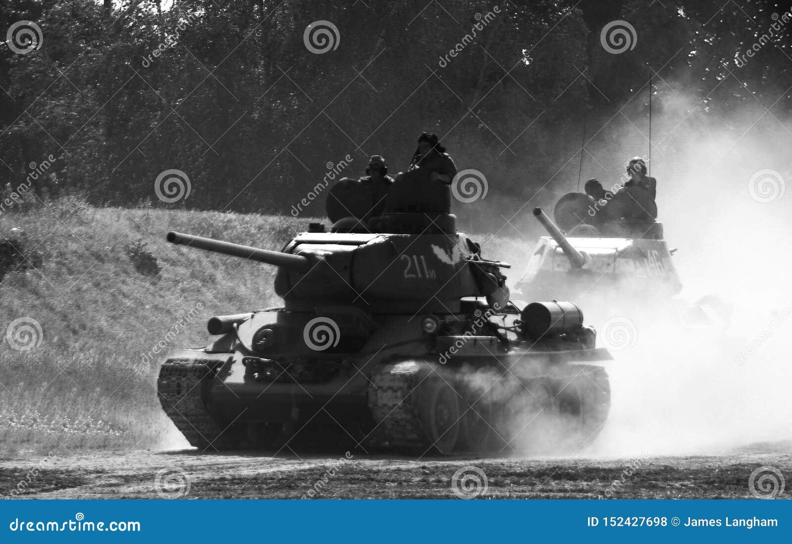 T34/85 tanks