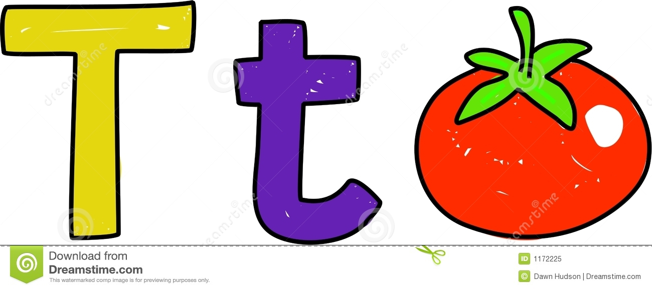 T Is For Tomato Stock Vector Illustration Of Uppercase