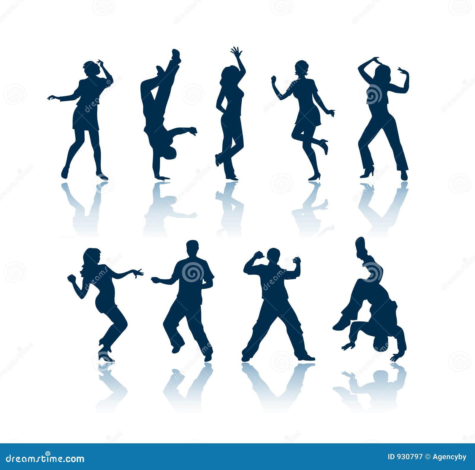 Tańczące sylwetki