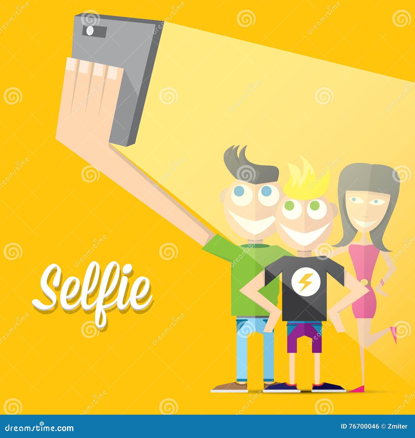 Ta det Selfie fotoet på smart telefonbegrepp