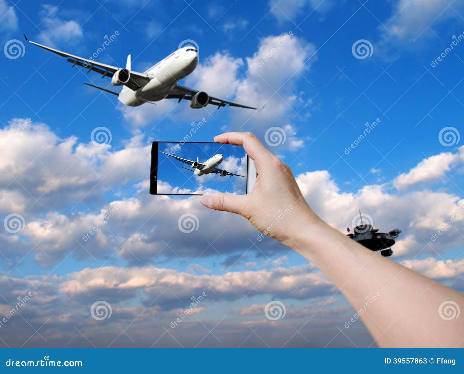 Ta foto av flygplanet