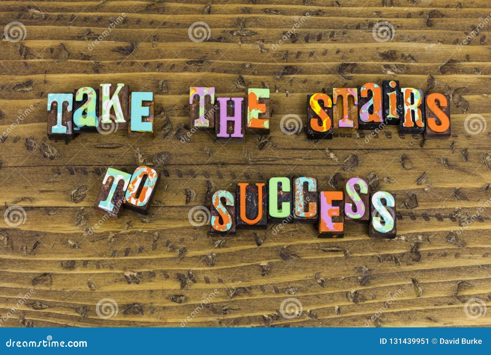 Ta trappa till framgångkarriärplanläggningen