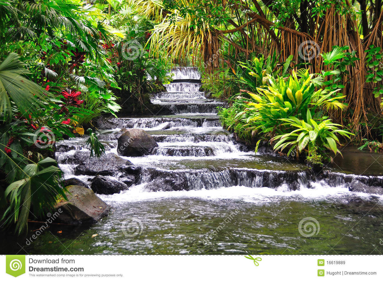 Tabacon Hot Springs, Costa Rica Royalty Free Stock Images - Image ...