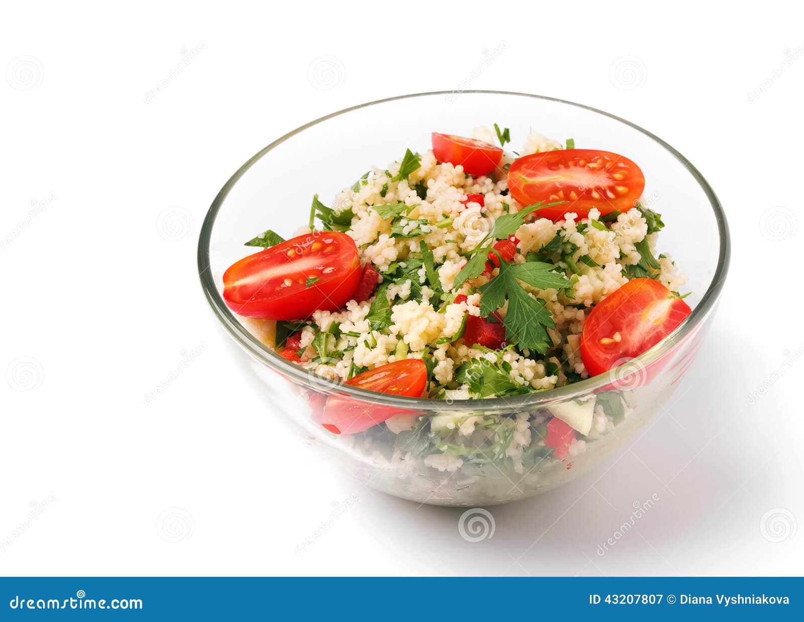 Download Tabbouleh Med Couscous Och Persilja Fotografering för Bildbyråer - Bild av tomat, näring: 43207807