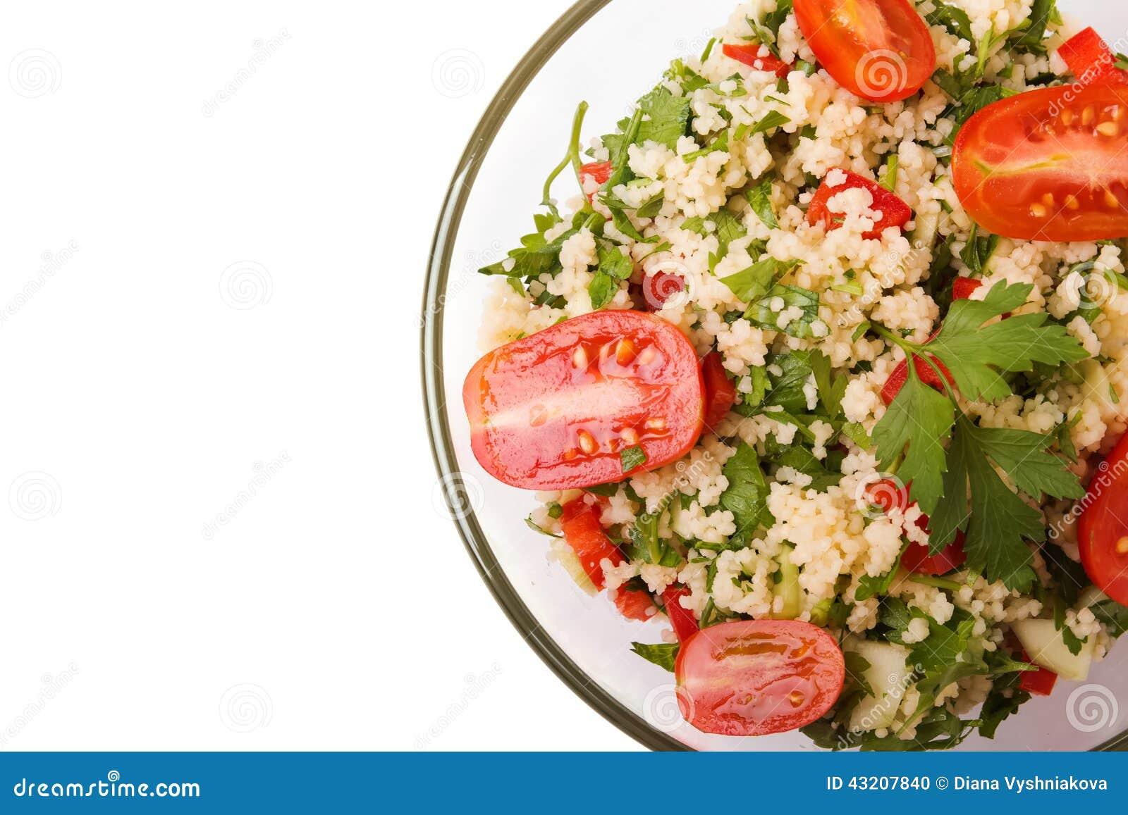 Download Tabbouleh Med Couscous Och Persilja Arkivfoto - Bild av ört, citron: 43207840