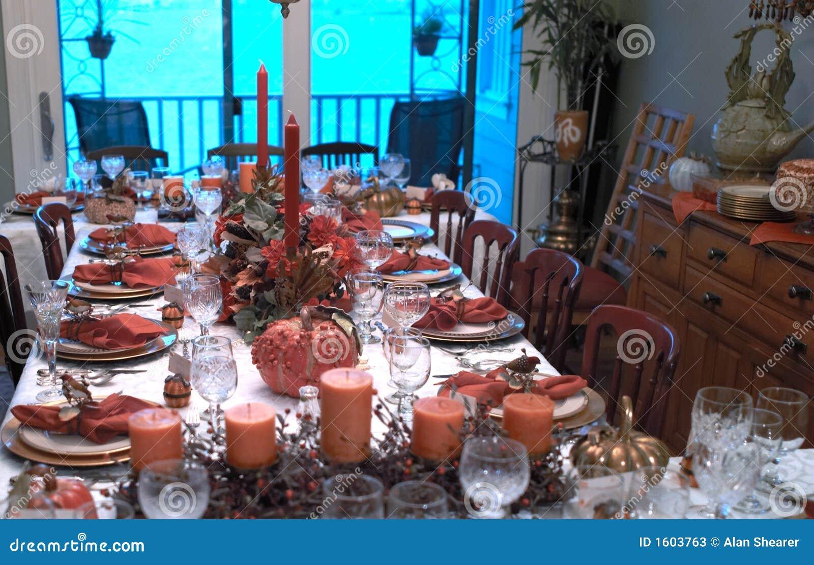Tabela Święto dziękczynienia