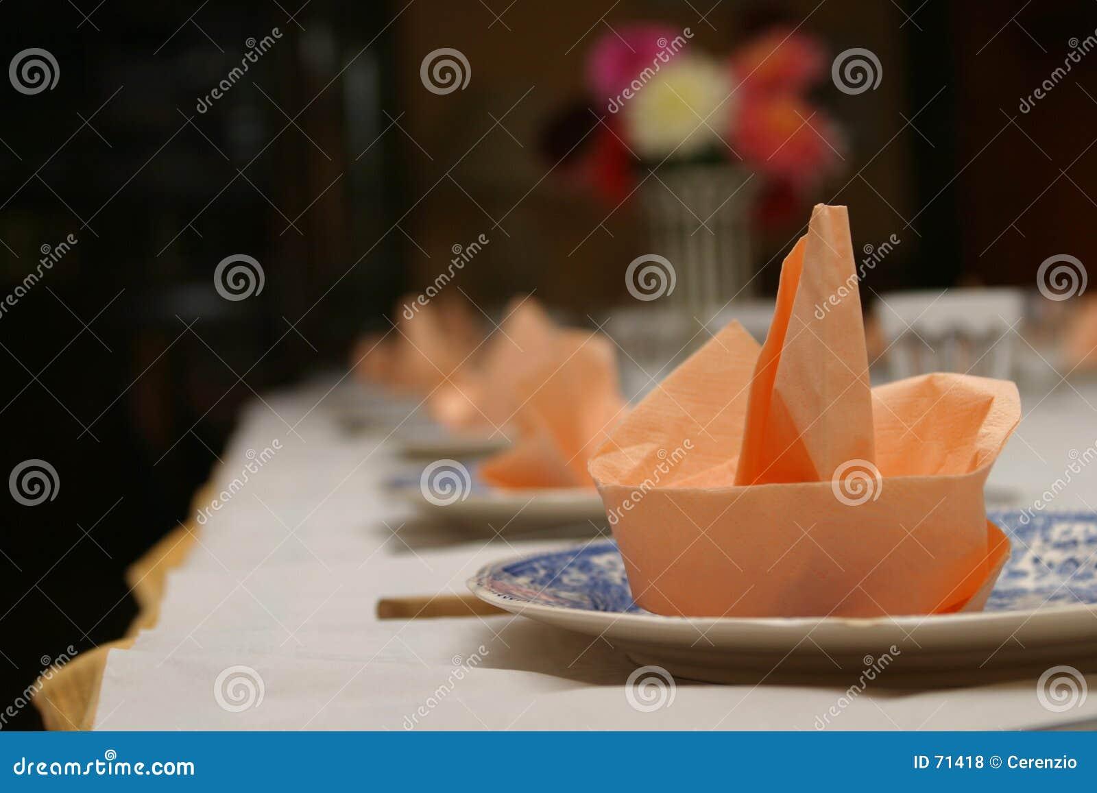 A tabela ajustou-se para o jantar