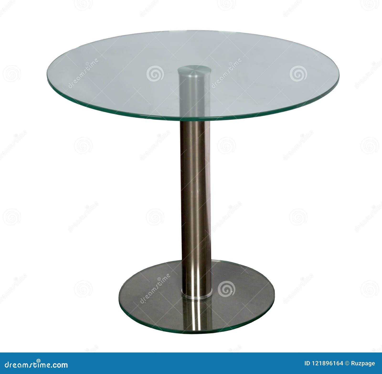 Tabela com um tampo da mesa de vidro