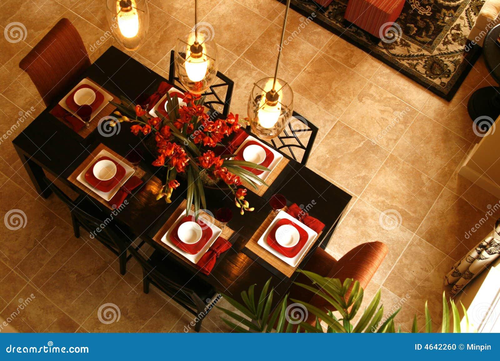 Tabela da sala de jantar de acima