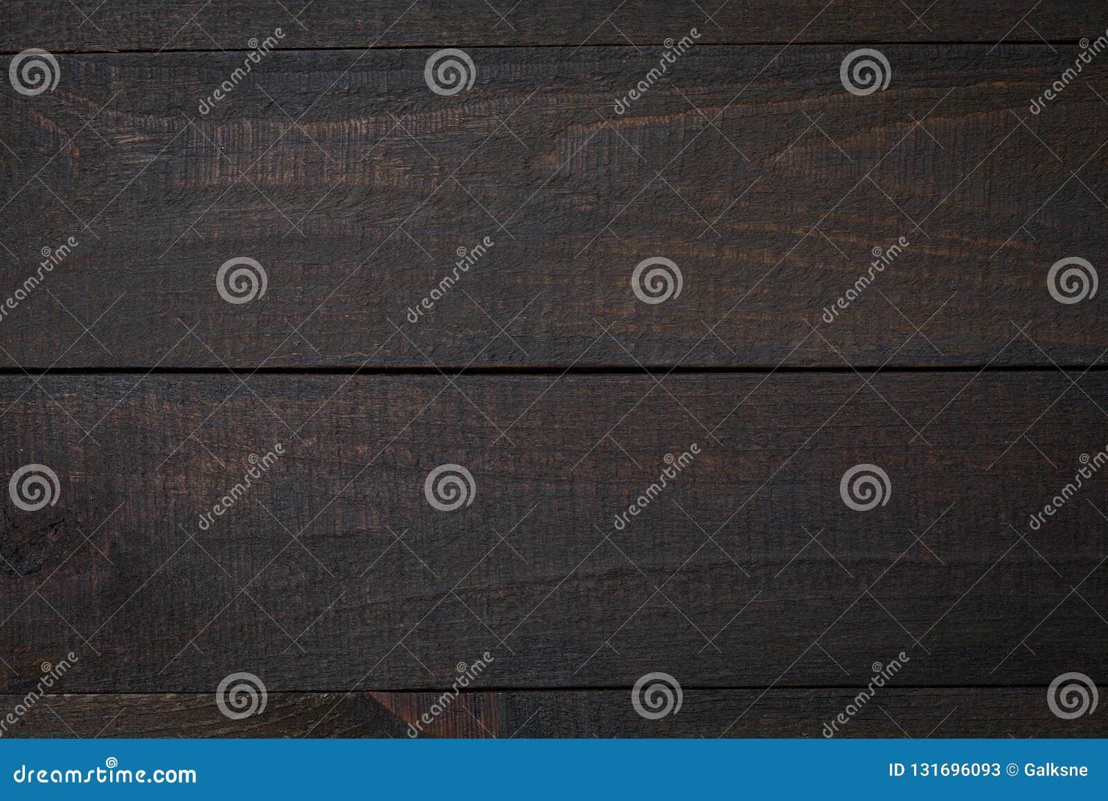 Tabela de madeira rústica flatlay - superfície vazia do carvalho Vista superior com espaço livre para o texto da cópia